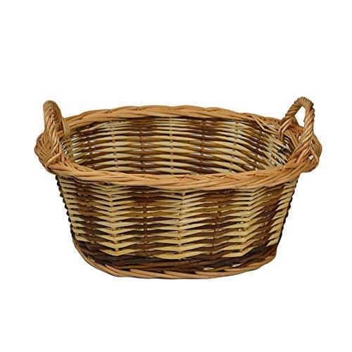 RURALITY Eco-friendly Wicker Storage Basket Planter with Handles