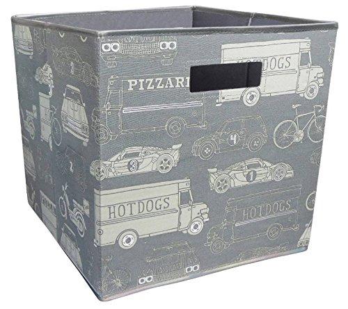 Fabric Cube Storage Bin 13x13 Mint Cream - GREY
