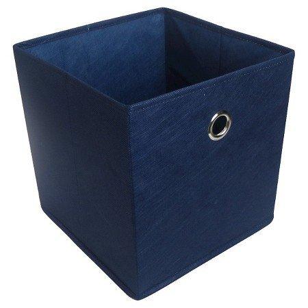 New Fabric Cube Storage Bin 11 Navy