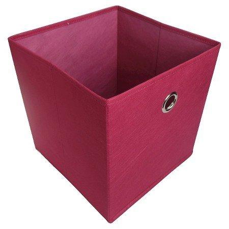 New Fabric Cube Storage Bin 11 Rose