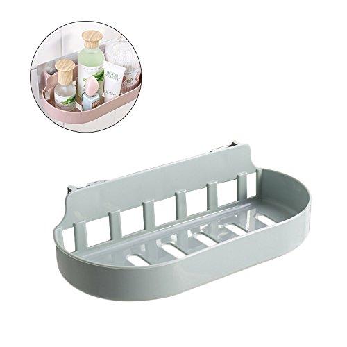 OUNONA Shower Caddy Basket Organizer Bathroom Shelf Rack Shampoo Soap Holder Self Adhesive