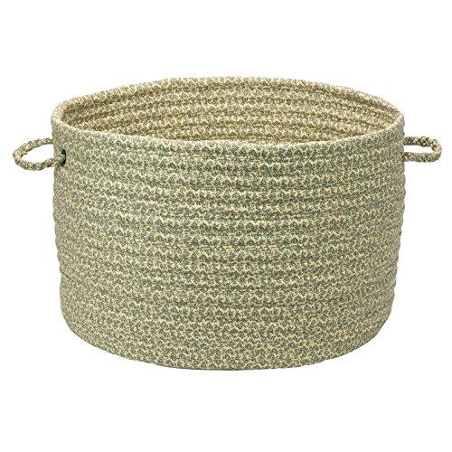 Solid Fabric Basket Storage Basket 18 by 12-Inch Wild Flower Green