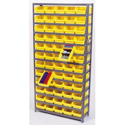 Economy Shelf Bin Storage Units Bin Dimensions 4 H x 4 18 W x 11 58 D qty 96 Bin Color Black