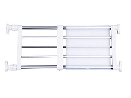 BAOYOUNI Tension Shelf Expandable Clothes Closet Organizer Rack Adjustable DIY Wardrobe Dividers Separator Ivory 1575-2362 Inches