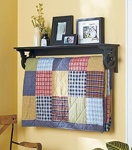 Hanging Wall Shelf-Rack Quilt Hanger Bedroom Decor by TDP