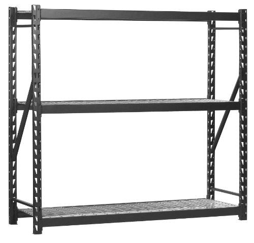 Sandusky Lee Muscle Rack ERZ772472WL3 Black Heavy Duty Steel Welded Storage Rack 3 Shelves 1000 lb Capacity per Shelf 72 Height x 77 Width x 24 Depth Pack of 1