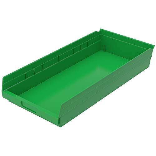 Akro-Mils 30-174 GREEN Shelf Bin 23-58 In L 4 In H Green