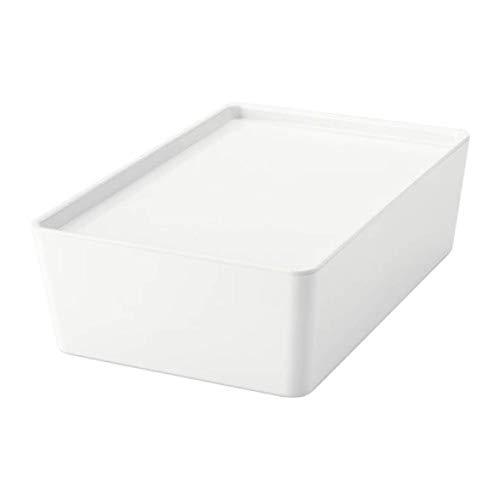IKEA Kuggis Box with Lid White 20280207 Size 7x10 ¼x3 ¼