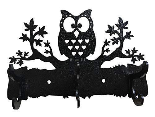 HeavenlyKraft Wall Mounted Coat Hook Steel Owl on Maple Tree Wall Mounted Coat RackCoat HangerCoat HookDecorative Metal HookTowel HangerBathroom HangerKitchen Towel Hanger