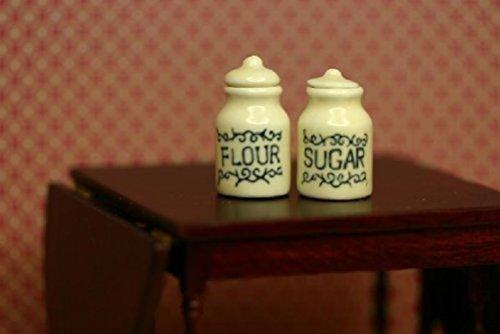 Miniature Kitchen Sugar Flour Canister Set