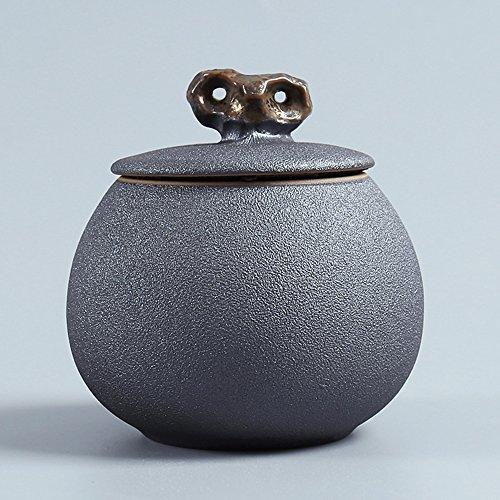 Dehua Porcelain Retro Crude Pottery Tea Canister Handmade Ruyao Ceramic Canister Top-grade Porcelain Tea Canister