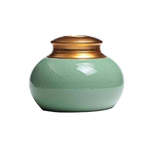 Classic Ceramic Tea Container Tin Tea Storage Box Plum GREEN