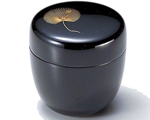 Echizen Urushi Lacquer Japanese Natsume tea ceremony Matcha Container Tea Caddy Chinkinmatsu Gold Pine