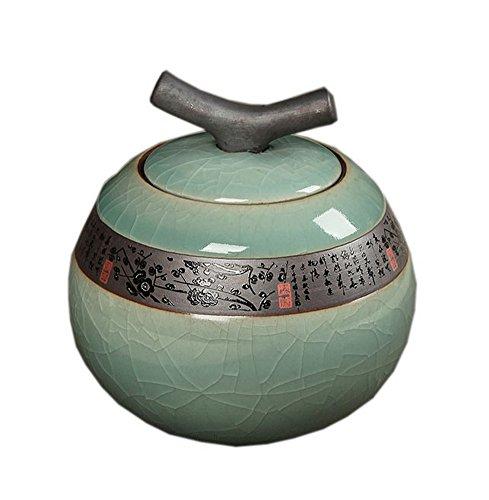 Retro Celeste Ceramic Glaze Tea Container