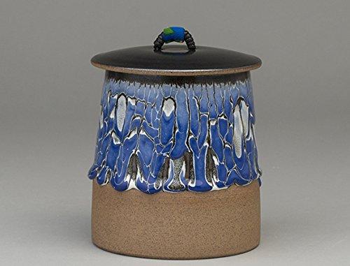 Pangu Porcelain Handmade【Purple iris】Decorative canister