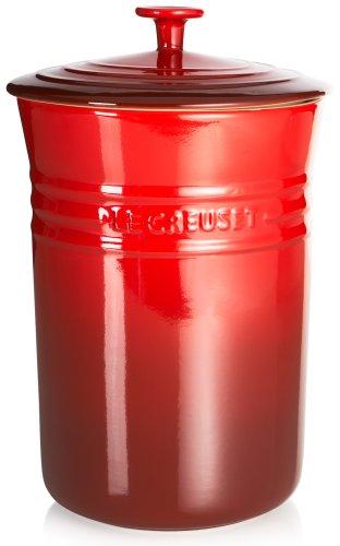 Le Creuset Stoneware Large 5-Quart Canister Cherry