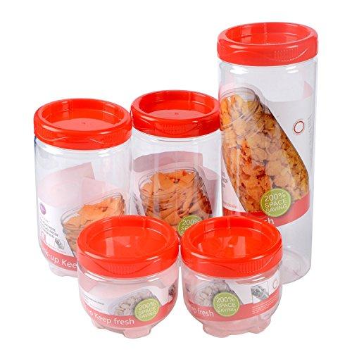Saim Grains Snacks and CerealsBulk Food Storage Canister Set of 5