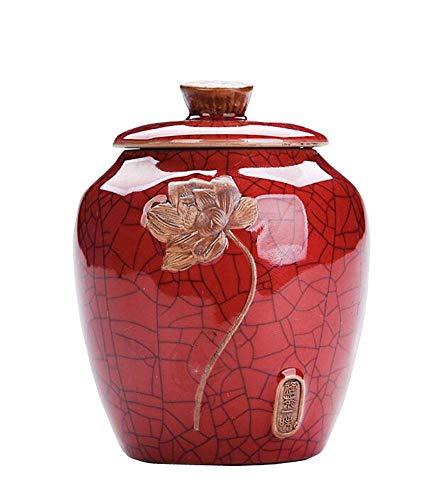 Jingyun Japanese Ceramics Tea Canister Traditional Tea Caddy Home Ornament E06