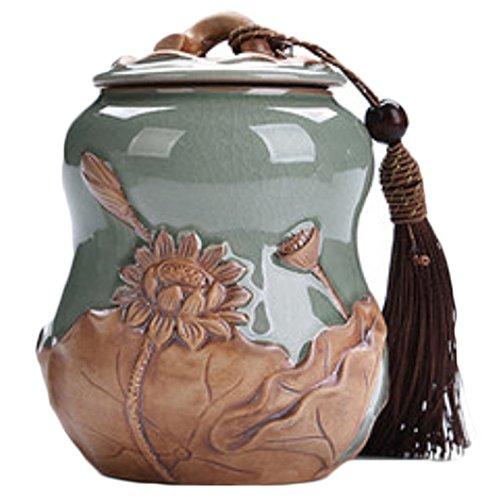 LUNA VOW Japanese Ceramics Tea Canister Traditional Tea Caddy A1