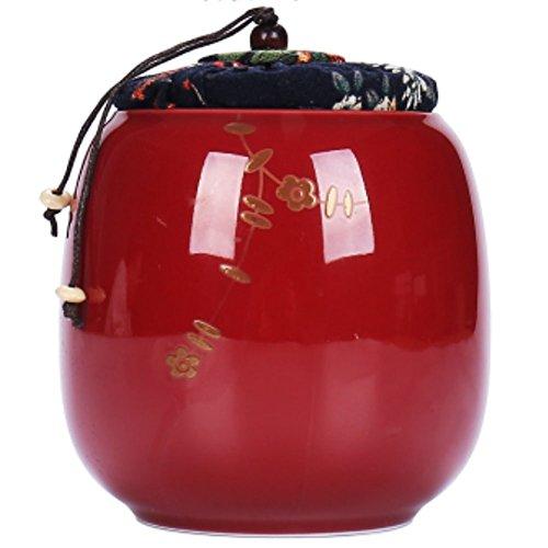 LUNA VOW Japanese Ceramics Tea Canister Traditional Tea Caddy A26