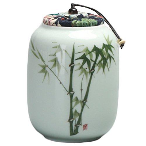 LUNA VOW Japanese Ceramics Tea Canister Traditional Tea Caddy A38