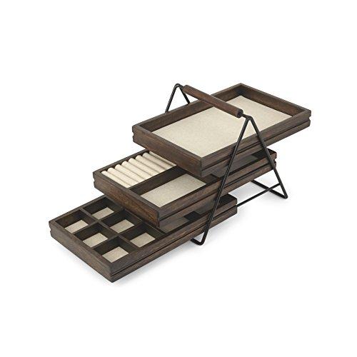 Umbra Terrace Jewelry Tray Walnut