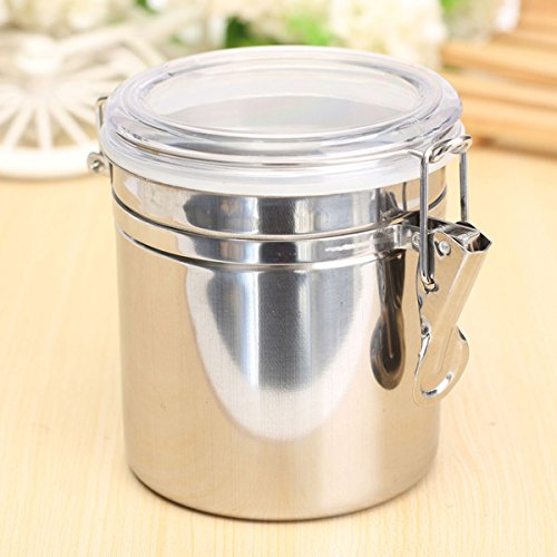 Durable Stainless Steel Canister Airtight Sealed Canister Spice Dry Storage Container Snack Cans M