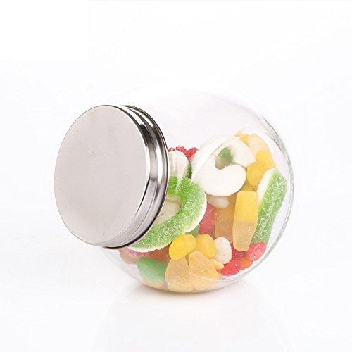 home kitchenGlass cruetSpice jarseasoning boxsalt shakersealed canister-E