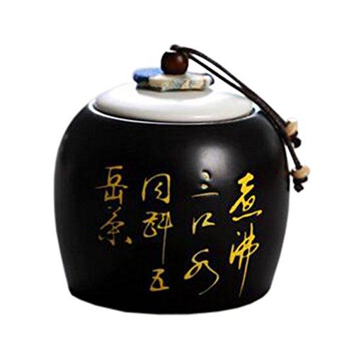 Ceramic Tea Coffee Container Stylish Tea-leaf Candy Storage Pot Tea Caddy 17