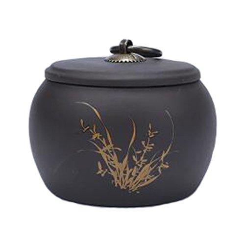 Retro Ceramic TeaCoffee Container Stylish Snack Jars Candy Storage Pot B