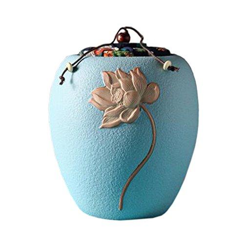 Retro Ceramic TeaCoffee Container Stylish Snack Jars Candy Storage Pot I