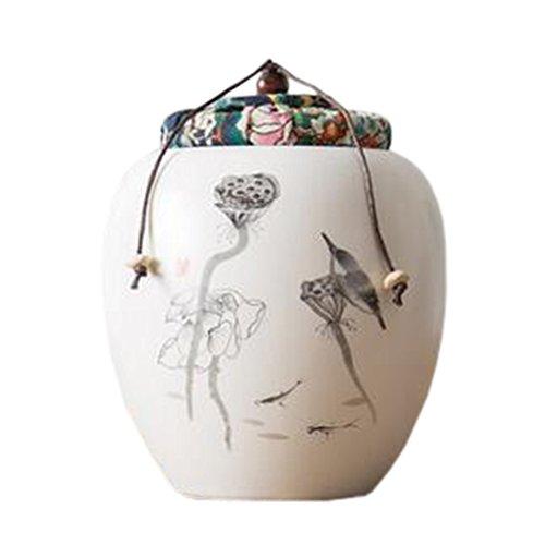 Retro Ceramic TeaCoffee Container Stylish Snack Jars Candy Storage Pot L