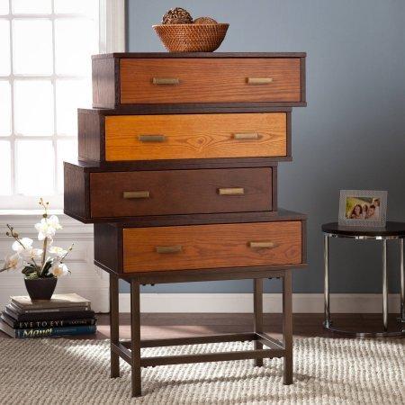 Southern Enterprises Kylie Midcentury Storage Cabinet Espresso