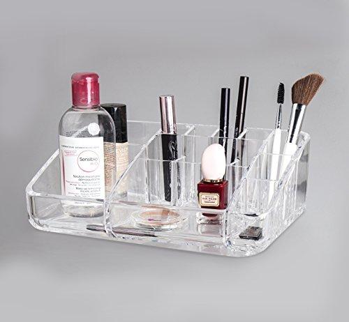 BUDGET GOOD Clear Acrylic Jewelry and Cosmetics Storage Makeup Organizer Size 984Lx649Wx334H