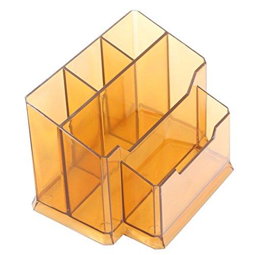 Comestic StorageWinnerEco Clear Nail Art Brush Holder Cosmetic Organizer Case Makeup Storage Box Coffee