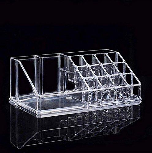 Spaces Skin Care Cosmetics Oversized Desktop Cosmetics Storage Box Transparent Makeup Organizer Plastic Box