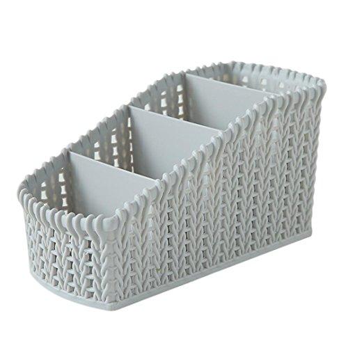 Kecar Cosmetic Storage Basket - Desktop Office Storage Organizer Storage Rack - Creative Three-Layer Makeup Desk Office Supply Organizer-Ship from USA Light Grey