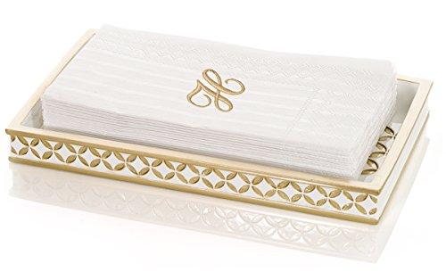Diamond Lattice Guest Towel Holder Decorative Cosmetics Organizer Best Vanity Trays for Arranging Perfume Jewelry Makeup- Elegant Bathroom Accessories