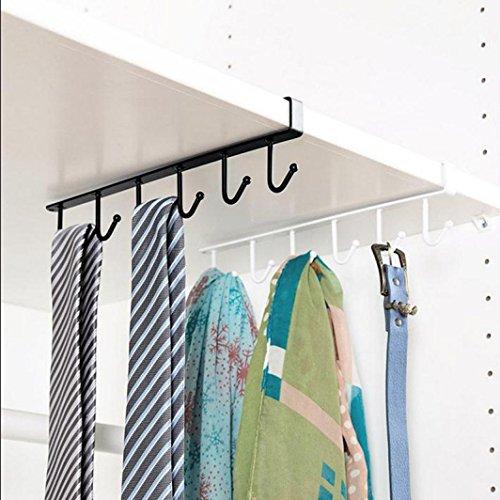 Fullfun Kitchen Bedroom Organizer Rack Hanger Clothes Towel Holder Storage Hooks black