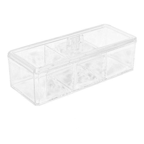 uxcell Acrylic Jewelry Necklace Pendant Makeup Tool Cosmetic Storage Box Container Holder w Lid