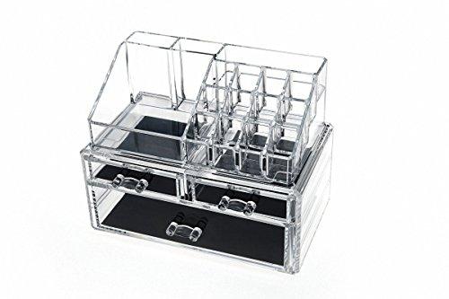 Acrylic Makeup Organizer Rangement Cosmetic Organizer Jewelry Organizer Lipstick Storage Box Drawers Makeup Tools Case JBT6703