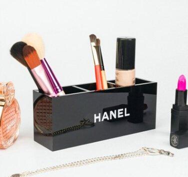 High-grade lipstick lipstick cosmetics storage box three grid makeup brush cosmetic case desktop storage box 175x5x7cm