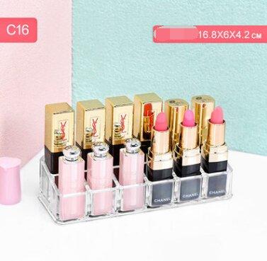 Lipstick Cosmetic Case  Lip Glaze Storage Box  Lipstick  Lipstick Display Box 12 grid