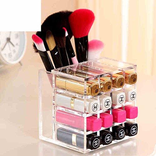 Lipstick storage boxTransparent desktop box cosmetic storage box dust-proof storage box-A