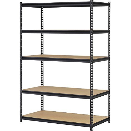 48W x 18D x 72H Steel 5-Shelf Heavy Duty Shelving Unit Made of Steel with 15 Increments Can Hold up to 800 lbs to 4000 lbs - Black by EDSAL