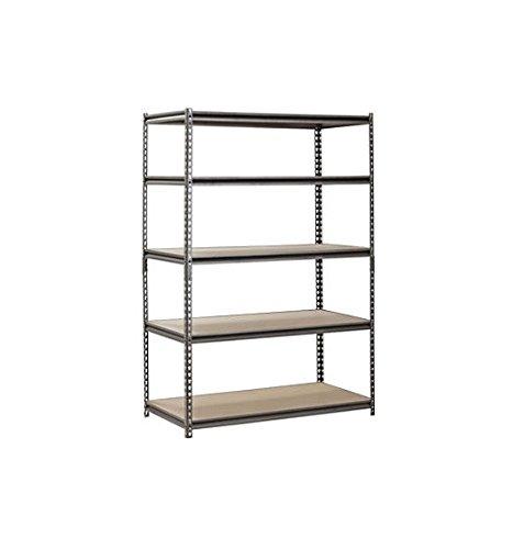 Muscle Rack 48W x 24D x 72H 5-Shelf Steel Shelving Black