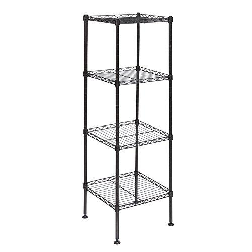 Homdox 4-Tire Wire Shelving Unit Shelf Storage Rack Organization for Kitchen Living Room Bathroom Bedroom Laundry Office