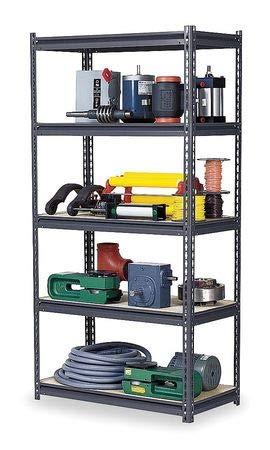 Boltless Shelving Unit 36D x 96W x 96H 5 Shelves Steel