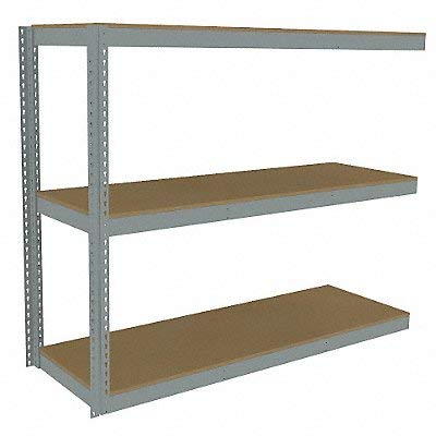 Tennsco - ZLE5-7224A-3D - 72 x 24 x 60 Steel Boltless Shelving Add-On Unit Gray Number of Shelves 3