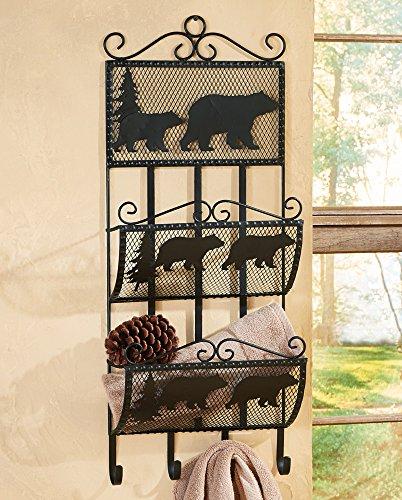 Black Bear Metal Rustic Storage RackShelf - Cabin Furniture